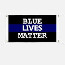 Blue Lives Matter Blue Stripe Banner
