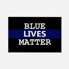 Blue Lives Matter Blue Stripe Magnets