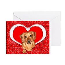 Sweetheart Dachshund Dog Greeting Card