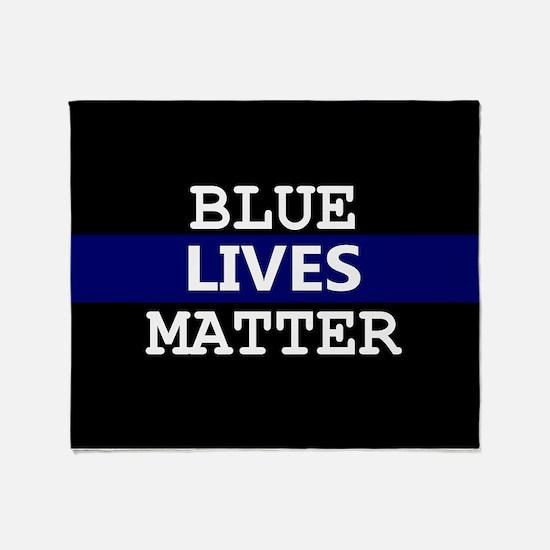 Blue Lives Matter Blue Stripe Throw Blanket