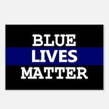 Blue Lives Matter Blue St Postcards (Package of 8)