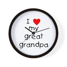 I love my great grandpa Wall Clock