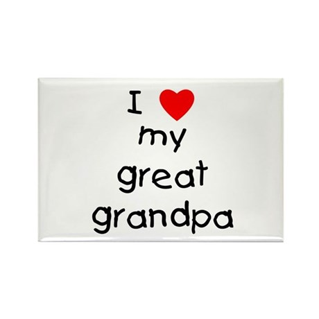 I love my great grandpa Rectangle Magnet (10 pack)