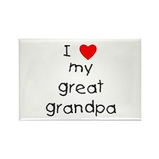 I love my great grandpa Rectangle Magnet