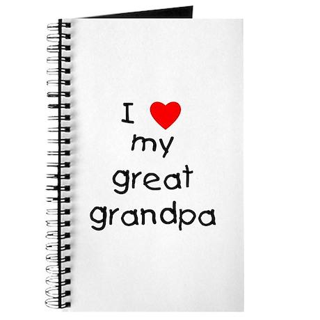 I love my great grandpa Journal