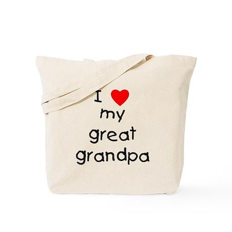 I love my great grandpa Tote Bag
