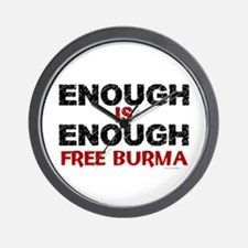 Enough Is Enough (Burma) 1.2 Wall Clock