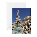 Paris Las Vegas Greeting Cards (Pk of 20)