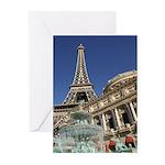 Paris Las Vegas Greeting Cards (Pk of 10)