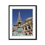 Paris Las Vegas Framed Panel Print