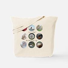 Cute Dandelion and birds Tote Bag