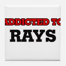 Addicted to Rays Tile Coaster
