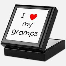 I love my gramps Keepsake Box