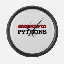 Addicted to Pythons Large Wall Clock