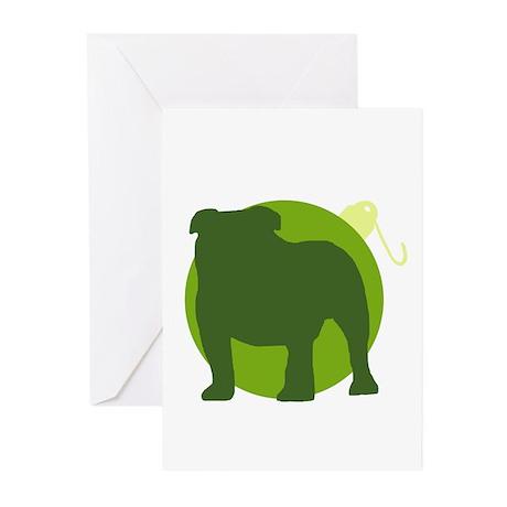 Bulldog Ornament Greeting Cards (Pk of 10)
