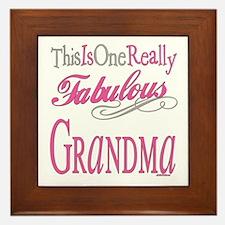 Fabulous Grandma Framed Tile
