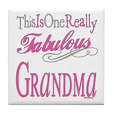 Fabulous Grandma Tile Coaster