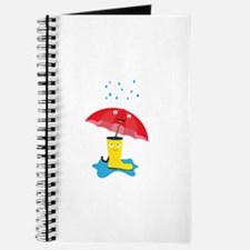Raincloud, rubber boots and umbrella Journal