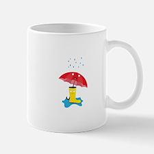 Raincloud, rubber boots and umbrella Mugs