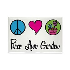 Peace Love Garden Rectangle Magnet