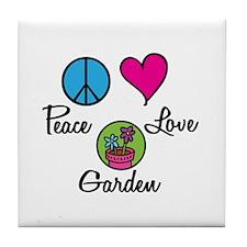 Peace Love Garden Tile Coaster