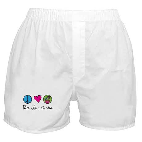 Peace Love Garden Boxer Shorts