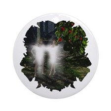 Adam and Eve Before Ornament (Round)