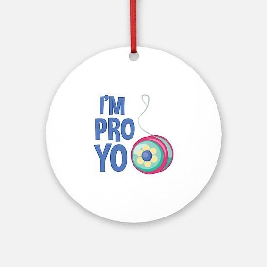 Im Pro Yo Round Ornament