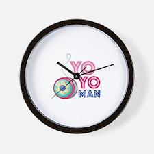 Yo Yo Man Wall Clock