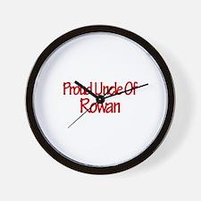 Proud Uncle of Rowan Wall Clock