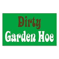 Dirty Garden Hoe Rectangle Decal