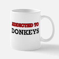 Addicted to Donkeys Mugs