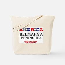 AMERICA REGIONS - DELMARVA PENINSULA :- Tote Bag