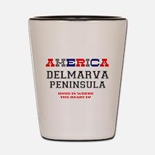 AMERICA REGIONS - DELMARVA PENINSULA :- Shot Glass