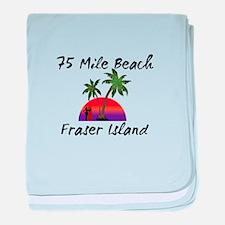 75 Mile Beach Fraser Island Australia baby blanket
