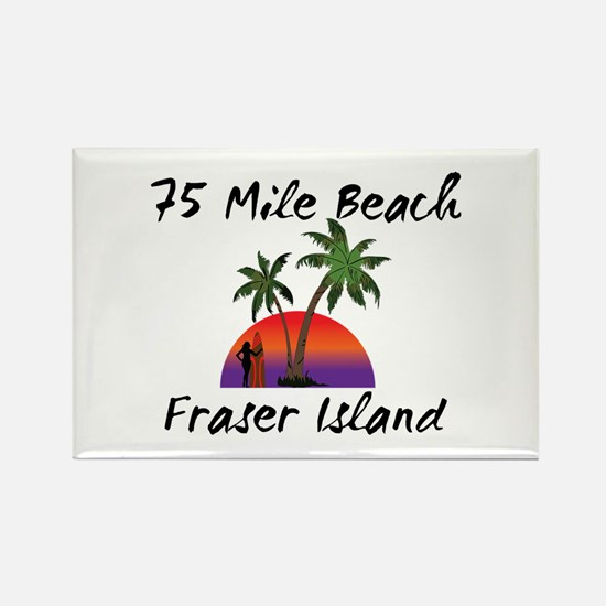75 Mile Beach Fraser Island Australia. Magnets
