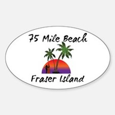 75 Mile Beach Fraser Island Australia. Decal