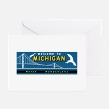 Welcome to Michigan, Vin Greeting Cards (Pk of 10)