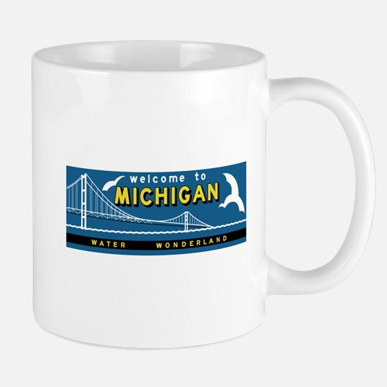 Welcome to Michigan, Vintage Road Sign Mug