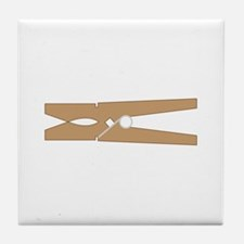 Clothespin Tile Coaster