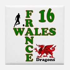 Wales France Dragons 16 Tile Coaster