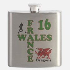 Wales France Dragons 16 Flask