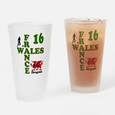 Wales France Dragons 16 Drinking Glass