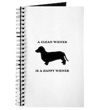 A clean wiener is a happy wiener Journal