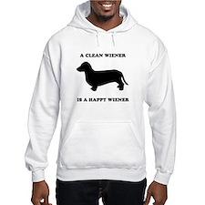 A clean wiener is a happy wiener Hoodie