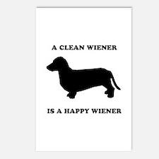 A clean wiener is a happy wiener Postcards (Packag