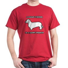A clean wiener is a happy wiener T-Shirt