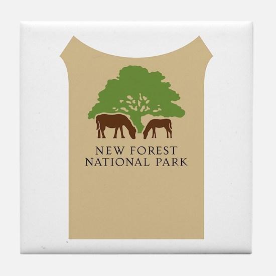 New Forest National Park, UK Tile Coaster