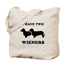 I have two wieners Tote Bag