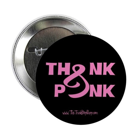 """Think Pink Ribbon 2.25"""" Button (10 pack)"""